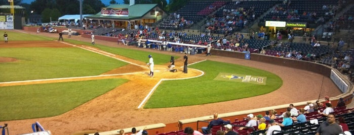 Whitaker Bank Ballpark is one of Tempat yang Disukai Skeeter.