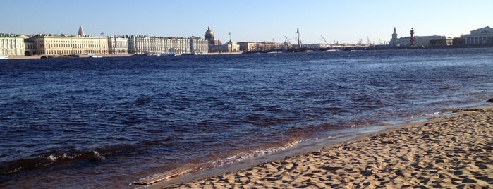 Beach of Peter and Paul Fortress is one of Spb.
