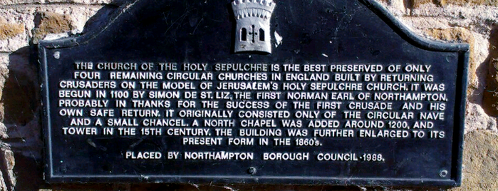 """Church of the Holy Sepulchre is one of Nancy""""Nan""""Apt."""