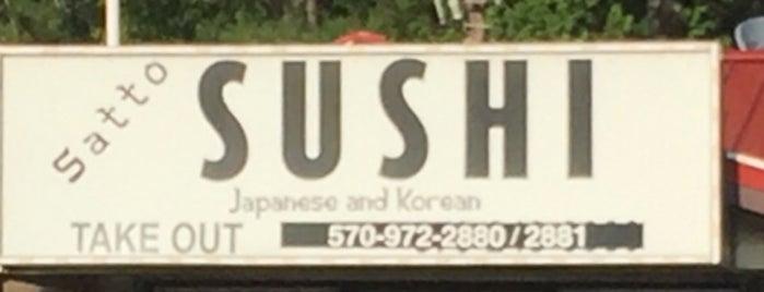 Satto Sushi is one of Tempat yang Disimpan G.