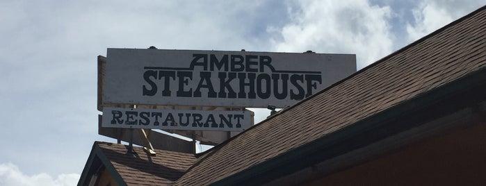 Amber's Steakhouse is one of สถานที่ที่บันทึกไว้ของ Lizzie.