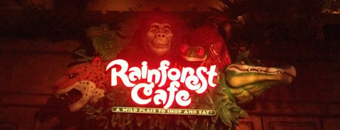 Rainforest Cafe is one of California Favorites.