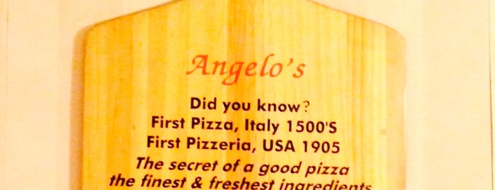 Angelo's Pizza is one of Jersey.