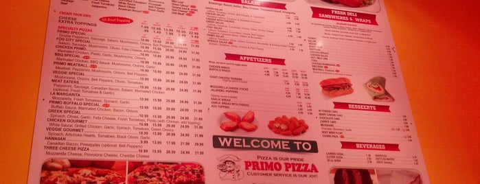 Primo Pizza is one of Tempat yang Disukai Roy.