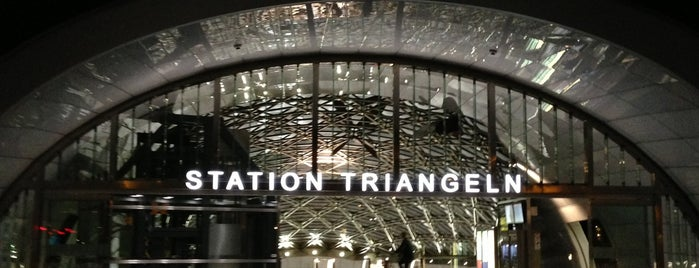 Station Triangeln (J) is one of Metro.