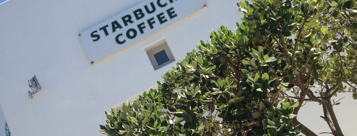 Starbucks is one of Mykonos, Greece.