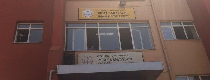A. Rıfat Canayakın Lisesi is one of Mücahit 님이 좋아한 장소.
