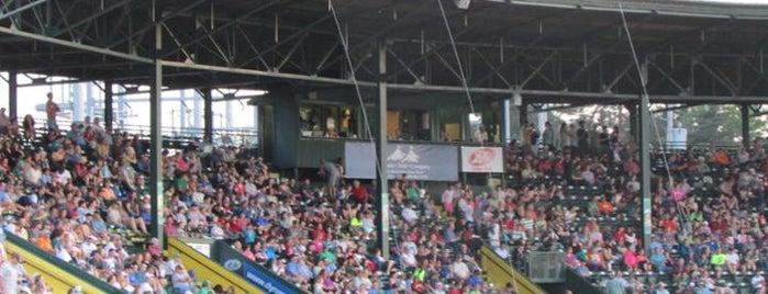 Centennial Field is one of Minor League Ballparks.