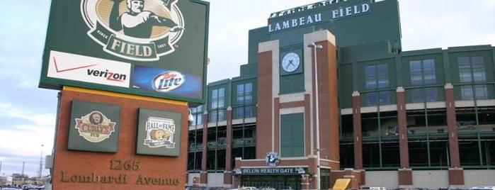 Lambeau Field is one of NFL Stadiums.