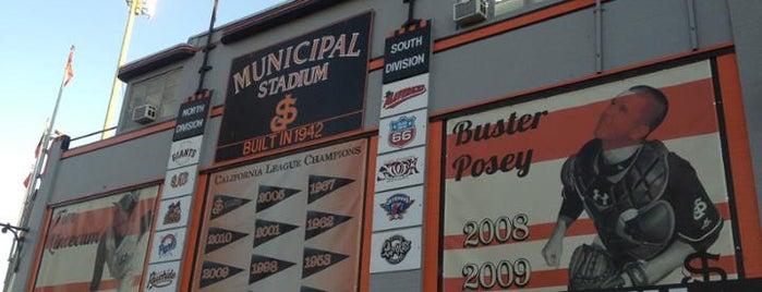 San Jose Municipal Stadium is one of Minor League Ballparks.