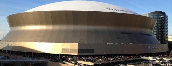 Caesars Superdome is one of NFL Stadiums.