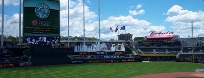 Kauffman Stadium is one of MLB Stadiums.