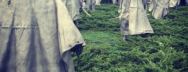 Korean War Veterans Memorial is one of Washington DC.