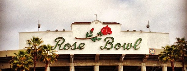 Rose Bowl Stadium is one of LAX.