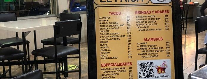 """Tacos al Pastor """"El Paisa"""" (desde 1970) is one of TAQUERIA."""
