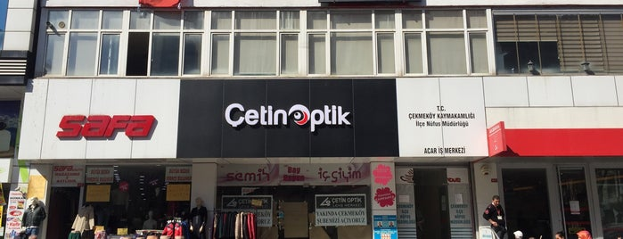 ÇETİN OPTİK LENS MERKEZİ-ÇEKMEKÖY is one of Lieux qui ont plu à Oral.