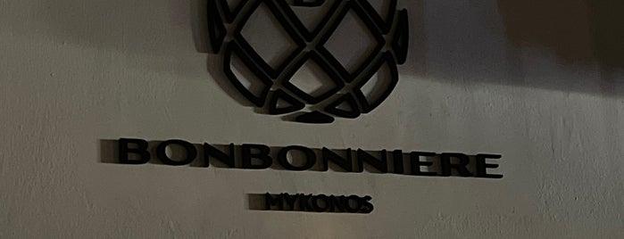 Bonbonniere Mykonos is one of Evrim'in Beğendiği Mekanlar.