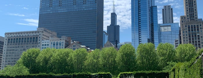 Lurie Garden is one of Chicago.