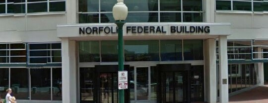 Norfolk Federal Building is one of Tempat yang Disukai Kawika.