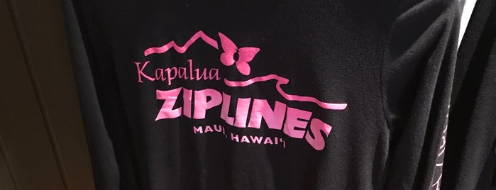 Kapalua Adventure Zipline is one of My Fave places.