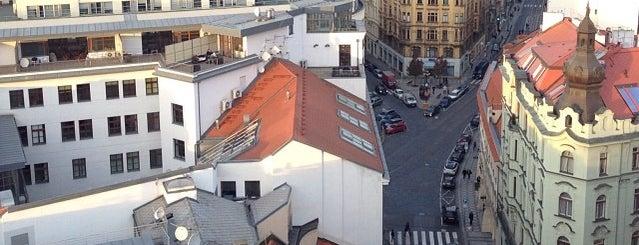 Novoměstská radnice is one of Nejlepší výhledy v Praze.