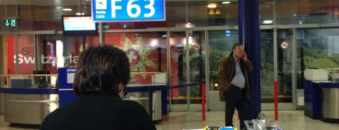 Gate F63 is one of Geneva (GVA) airport venues.