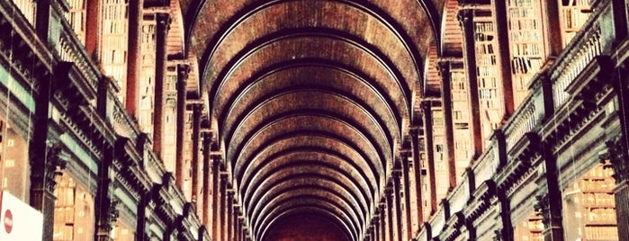 Trinity College Old Library & The Book of Kells Exhibition is one of Dublin. Ireland.