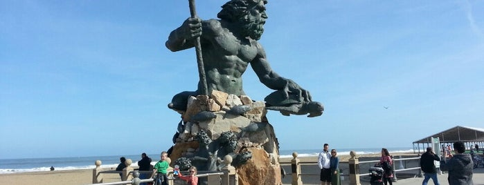 The King Neptune Statue is one of Virginia Beach.