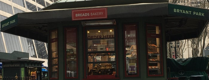 Breads Bakery - Bryant Park Kiosk is one of EAT NEW YORK.