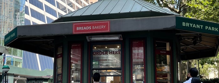 Breads Bakery - Bryant Park Kiosk is one of NYC.