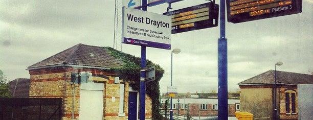 West Drayton Railway Station (WDT) is one of TFL Elizabeth Line Stations.