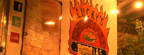 Lucky's Puccias is one of TV Food Spots: Austin Metro Area.