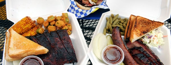 R.O.'s Outpost BBQ'D is one of The Seven Ten Split Bagde.