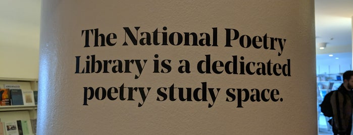 National Poetry Library is one of Top 10 Peaceful Places In London.