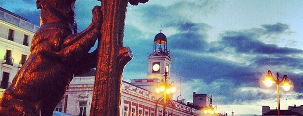 Puerta del Sol is one of Madrid!.