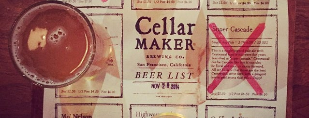 Cellarmaker Brewing Company is one of Beer 47 Craft Beer Guide to SF.