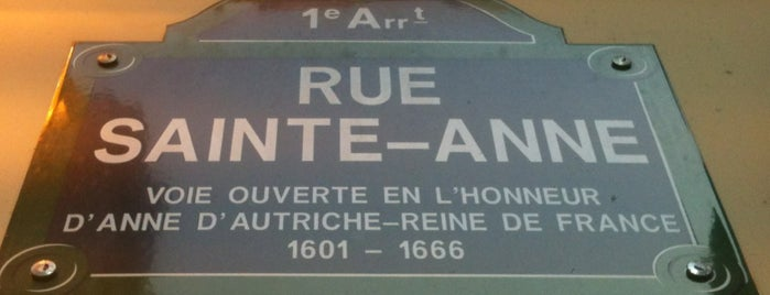 Rue Sainte-Anne is one of Paris.