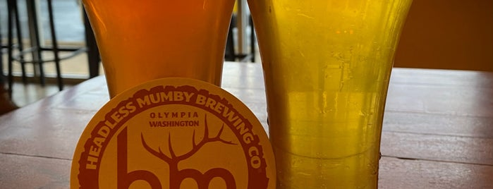 Headless Mumby Brewing is one of Puget Sound Breweries South.