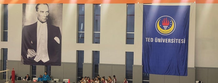 TED Üniversitesi Spor Salonu is one of Buseさんのお気に入りスポット.
