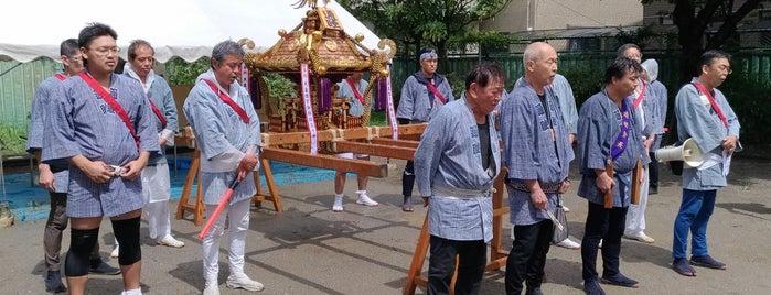 梅田稲荷神社 is one of 神輿で訪れた場所-1.