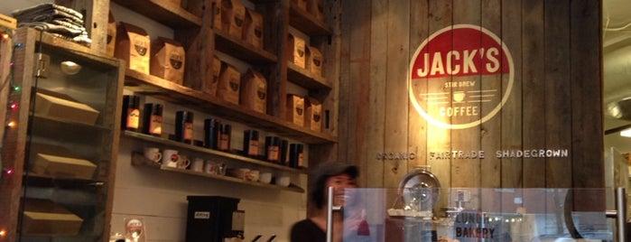 Jack's Stir Brew Coffee is one of Coffee Shops Below 14th Street.