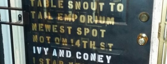 Ivy and Coney is one of DC cool bar list.