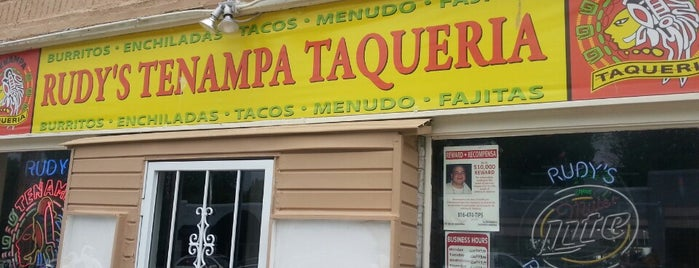 Rudy's Tenampa Taqueria is one of Kansas City.