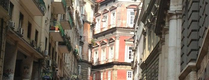 Via Mezzocannone is one of Naples.
