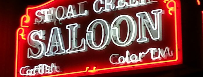 Shoal Creek Saloon is one of Lugares favoritos de Mike.