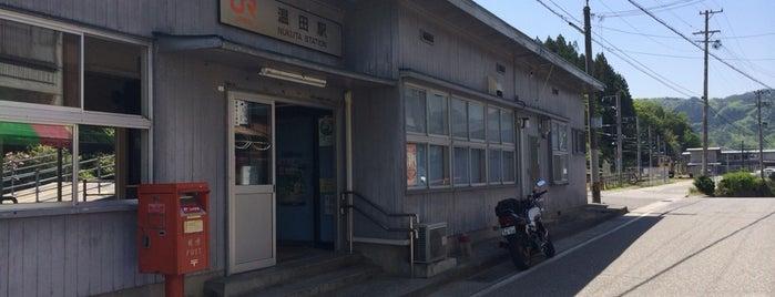 温田駅 is one of JR 고신에쓰지방역 (JR 甲信越地方の駅).