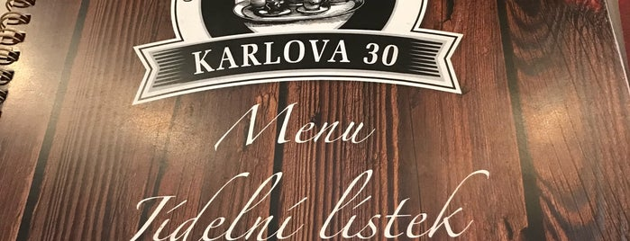 Restaurant Karlova 30 is one of Orte, die Matthias gefallen.
