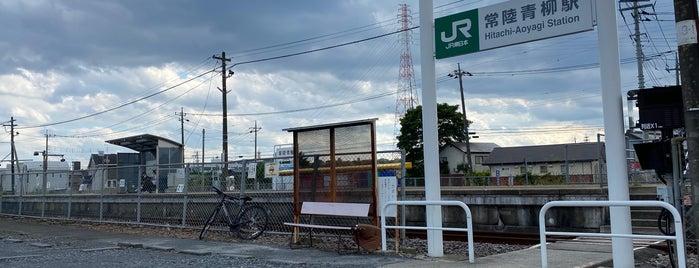 Hitachi-Aoyagi Station is one of JR 키타칸토지방역 (JR 北関東地方の駅).