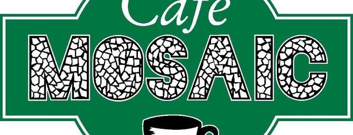 Cafe Mosaic is one of สถานที่ที่บันทึกไว้ของ Josh.