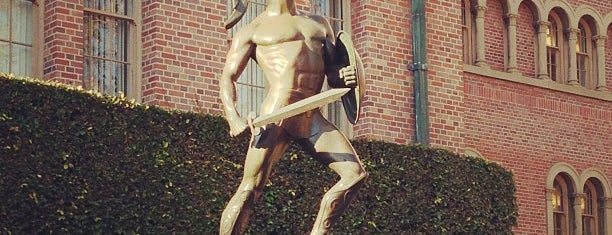 Tommy Trojan is one of LA baby.